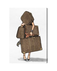 """Bags, Bags, Bags"" Fashion Wall Art in Belvedere Frame - Available in 5 Sizes"