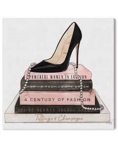 Classic Stiletto and High Fashion Books Canvas Wall Art in Shadow Box Frame - Available in 5 Sizes