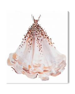 """Coral Magic"" Fashion Gown Wall Art - Available in 5 Sizes"
