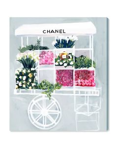 """Fashion Flower Cart"" Canvas Print Wall Art - Available in 6 Sizes"