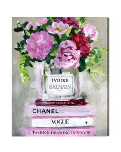 """Floral V2"" Fashion Canvas Print Wall Art - Available in 6 Sizes"