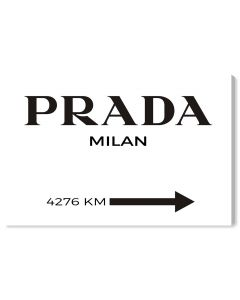 Milan Minimalist Prada-Inspired Fashion Wall Art - Available in 5 Sizes