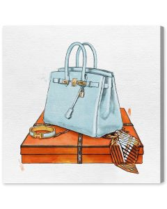 """My Bag Collection I"" Hermes-Inspired Wall Art - Available in 5 Sizes"
