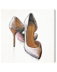 """My Gala Shoes"" Canvas Print Fashion Wall Art - Available in 5 Sizes"