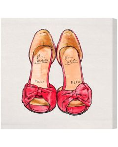 """My Red Shoes"" Canvas Print Fashion Wall Art - Available in 5 Sizes"