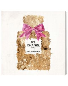 """Pure Gold Dust Scent"" Chanel No. 5 Wall Art - Available in 5 Sizes"
