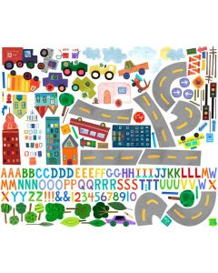 Travel Theme Colorful Decal Cut-Out Wall Art for Kids