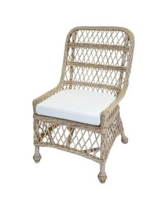 Open Weave Wicker Side Chair – Variety of Colors and Fabrics Available - ON BACKORDER UNTIL END OF DECEMBER