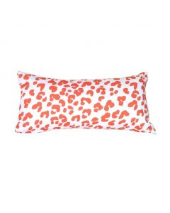 Orange Ocelot Print Decorative Lumbar Pillow