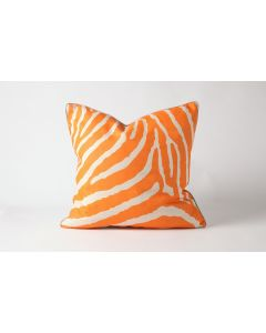 Orange Zebra Natural Linen Pillow