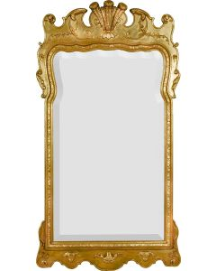 Ornate Gold Long Rectangular Wall Mirror With Carved Details - Available in 4 Sizes and Custom Options