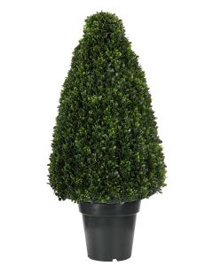 Outdoor Faux Boxwood Cone Topiary