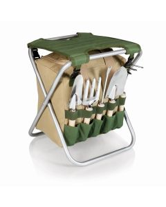 Outdoor Folding Storage Garden Seat With Tools