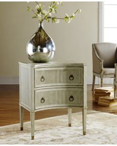 Modern History Painted Gustavian Bedside Chest in Antique Grey or White