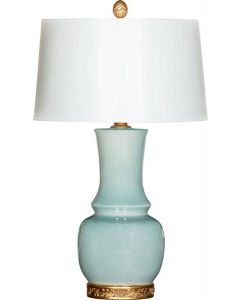 Wyndham Blue Table Lamp With Gold Accents