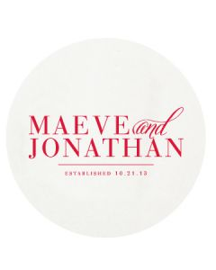 Park Avenue Engagement Personalized Letterpressed Coasters