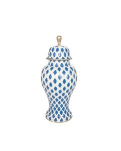 Medium Parsi in Navy Decorative Ginger Jar - IN STOCK IN GREENWICH CT FOR QUICK SHIPPING
