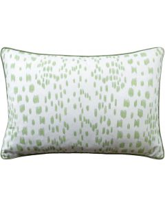 Peridot Green Speckled Les Touches Square Cotton Decorative Pillow – Available in Three Sizes