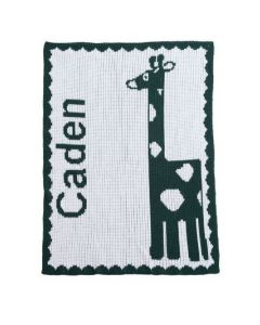 Personalized Giraffe Design Blanket - Variety of Colors Available