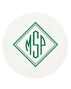 Personalized Letterpressed Coasters with Basic Monogram