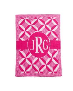 Personalized Puzzle Monogram Blanket - Variety of Colors Available