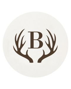 Personalized Letterpressed Coasters With Antler Motif