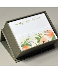 Petite Silk Stationery Box