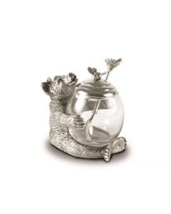 Pewter Bear Honey Pot- ON BACKORDER UNTIL BEG MARCH 2021