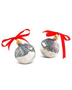 Pewter Christmas Ornament Salt and Pepper Set Great for Holiday Entertaining