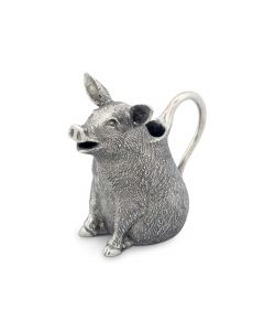 Pewter Happy Pig Creamer Serveware