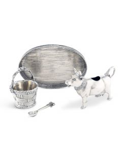 Pewter Mabel Cow Creamer Set Serveware