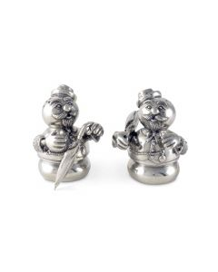 Pewter Snowmen Salt and Pepper Set Great for Holiday Entertaining