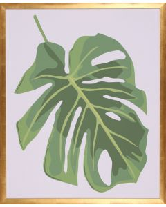 Philodendron II Wall Art in Gold Frame