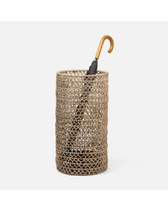 Pigeon & Poodle Arue Umbrella Stand in Knotted Banana Bark