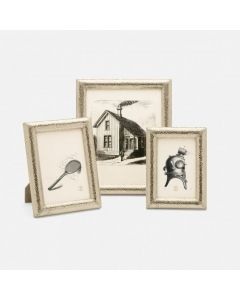 Pigeon & Poodle Corinth Textured Brass Frame, 3 Sizes