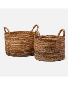 Pigeon & Poodle Payson Nesting Baskets in Woven Banana Bark, Set of 2
