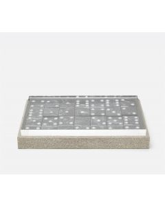 Pigeon & Poodle Treviso Faux Shagreen Oversized Domino Set in Sand