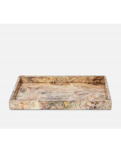 Pigeon & Poodle Adana Large Tray in Marbleized Shell