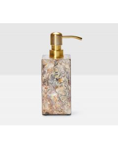Pigeon & Poodle Adana Soap Pump in Marbleized Shell