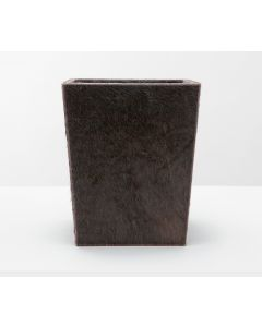 Pigeon & Poodle Brown Leather Hyde Rectangular Tapered Wastebasket