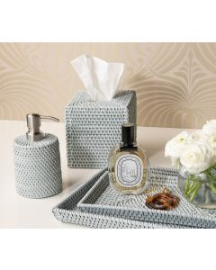 Pigeon & Poodle Dalton Light Grey Rattan Bathroom Accessories Collection