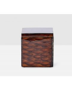 Pigeon & Poodle Durban Canister in Natural Teak Resin Fish Scale Design