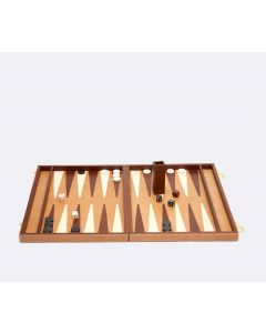 Pigeon & Poodle Beige Grantham Backgammon Game Set in Two Different Sizes