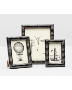 Pigeon & Poodle Metz Black Horn Picture Frame  in Three Different Sizes