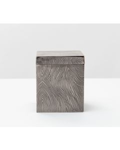 Pigeon & Poodle Humbolt Wood Etched Motif Canister in Black Nickel