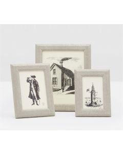 Pigeon & Poodle Nibas Faux Shagreen Picture Frame in Sand