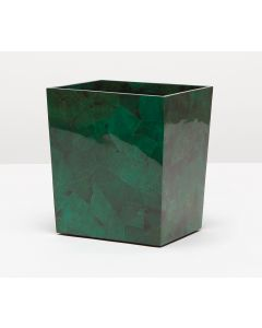 Pigeon & Poodle Palm Beach Emerald Green Shell Rectangular Tapered Waste Basket