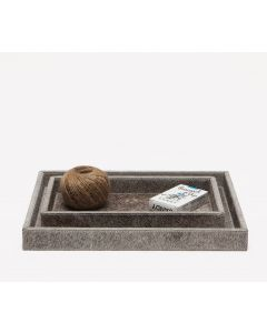 Pigeon & Poodle Umbra Tray Set in Gray Hide