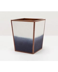 Pigeon & Poodle Bray Hand-Dyed Wastebasket with Tobacco Leather Trim - OUT OF STOCK