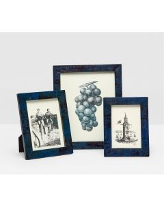 Pigeon & Poodle Dark Blue Colmar Picture Frame in Three Different Sizes - OUT OF STOCK